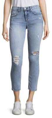 Rag & Bone Distressed Cropped Skinny Jeans