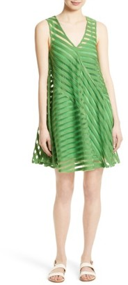 Women's Tracy Reese Directional Stripe Flared Tank Dress $298 thestylecure.com