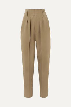 Isabel Marant Durneri Pleated Wool-twill Tapered Pants - Army green