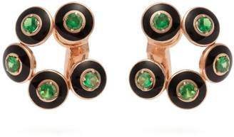 Selim Mouzannar Mina Tsavorite & 18kt Rose Gold Clip Earrings - Womens - Black