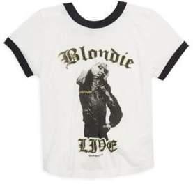 Rowdy Sprout Toddler's, Little Girl's& Girl's Blonde Girls Ringer T-Shirt