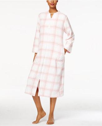 Miss Elaine Plush Zip-Front Long Robe $68 thestylecure.com