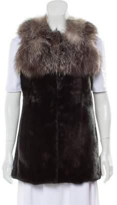 Fur Mink & Fox Vest