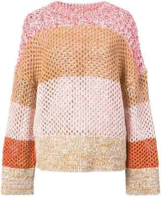 Derek Lam 10 Crosby Colorblocked Gradient Sweater