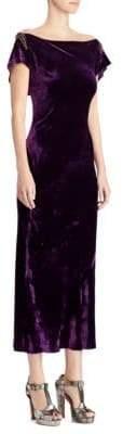 Ralph Lauren 50th Anniversary Rachelle Beaded Velvet Dress