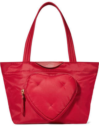 Anya Hindmarch Chubby Heart Mini Shell Tote - Red