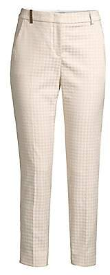 Peserico Women's Houndstooth Stretch Ankle Pants