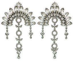 DYLANLEX Ivy Crystal Fan Drop Earrings