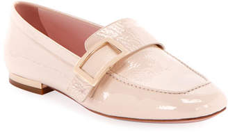 Roger Vivier Crinkle Patent Buckle Loafers
