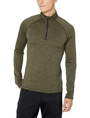 Peak Velocity Men's Thermal Long Sleeve Quarter-Zip Athletic-Fit Top