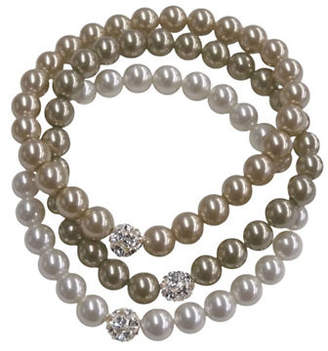 Cezanne Three Row Fireball Pearl Bracelet