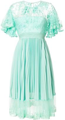 Three floor Haze pleat and lace dress