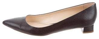Jerome C. Rousseau Leather Pointed-Toe Flats