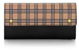 Burberry Small Harris Mini Vintage Check Leather Continental Wallet