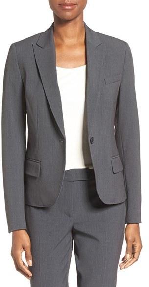 Anne KleinWomen's Anne Klein One-Button Suit Jacket