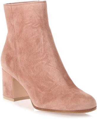 Gianvito Rossi Margaux dark nude suede ankle boot
