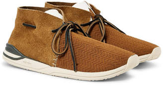 Visvim Huron Leather-Trimmed Mesh and Suede Sneakers