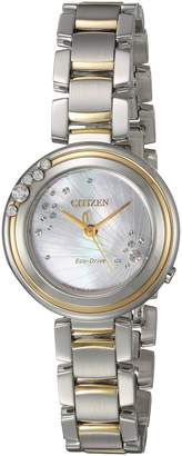 Citizen Women's 'Eco-Drive' Quartz Stainless Steel Casual Watch, Color: (Model: EM0464-59D)