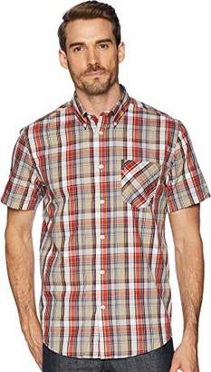 Ben Sherman Men's Madras Plaid Shirt