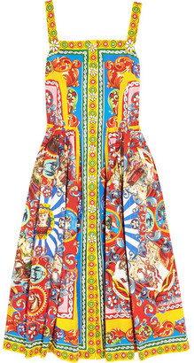 Dolce & Gabbana - Printed Cotton-poplin Midi Dress - Yellow $2,595 thestylecure.com