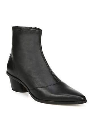 Via Spiga Odette Leather Zip Booties
