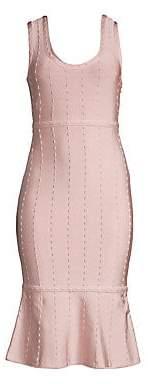 Herve Leger Women's Sleeveless Fluted Hem Dress