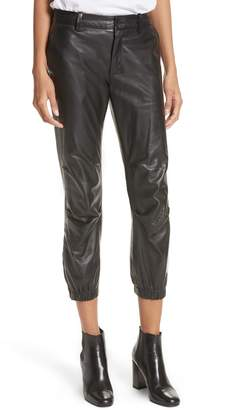Nili Lotan French Military Leather Crop Pants