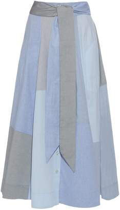 LISA MARIE FERNANDEZ Patchwork cotton-poplin skirt $525 thestylecure.com