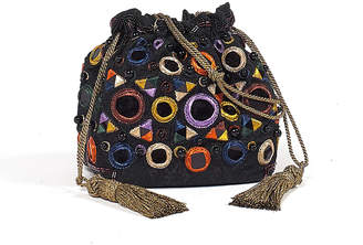 Etro Circle Embroidered Pouch Bag