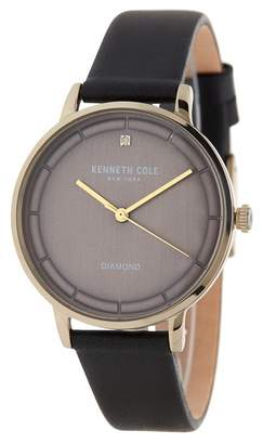Kenneth Cole New York Women's Leather Casual Watch, 36mm