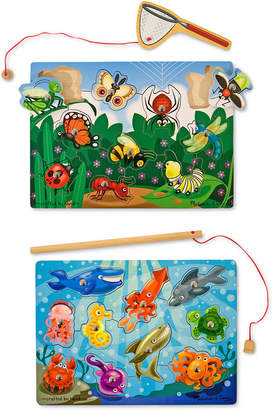 Melissa & Doug Kids' Fishing & Bug Catching Magnetic Game Bundle