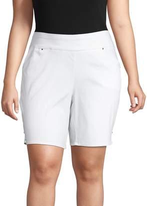INC International Concepts Plus Bermuda Cotton Blend Shorts