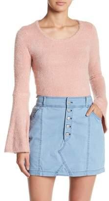 BB Dakota Regine Cropped Bell Sleeve Sweater