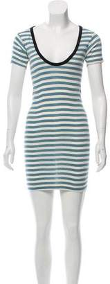 Edith A. Miller Striped Mini Dress