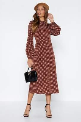 Nasty Gal Don't Spot 'Til You Get Enough Polka Dot Dress