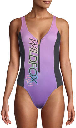 Wildfox Couture Zipper One-Piece Swimsuit