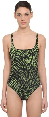 Ganni Tiger Printed One Piece Swimsuit