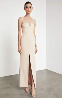 BCBGMAXAZRIA Notched V Strapless Gown