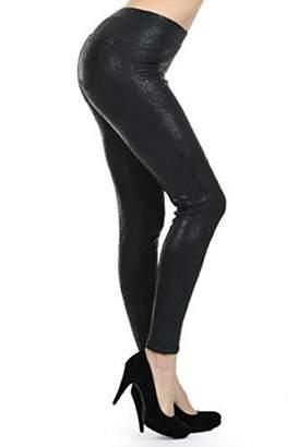 She's Women High Fashion Fur-Lined Warm Jeggings Leggings - Black