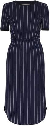 Baum und Pferdgarten June Dress in Navy Cream Pinstripe