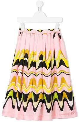 Emilio Pucci Junior geometric swirl print skirt