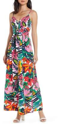 J.Crew Floral Spaghetti Strap Maxi Dress
