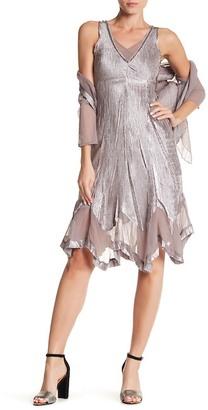 KOMAROV Sequin V-Neck Sleeveless Dress $418 thestylecure.com