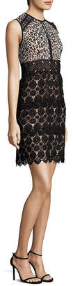 Nanette Lepore Amaretto Lace & Leopard-Print Dress