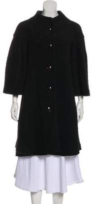 Armani Collezioni Bouclé Knee-Length Coat