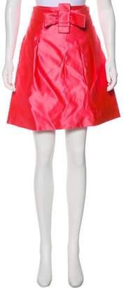 Chloé Bow-Accented Silk Skirt
