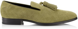 Jimmy Choo FOXLEY Clay Denim Suede Loafers