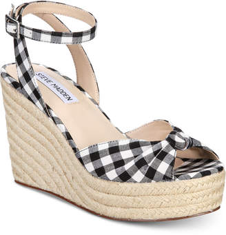 Steve Madden Women's Valinda Espadrille Wedge Sandals
