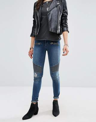 Lovers + Friends Aaron Biker Skinny Jeans