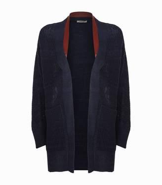 Roberto Cavalli Leather Harness Cardigan